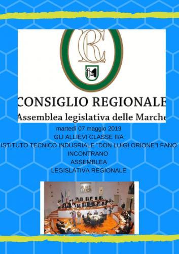 Visita all'Assemblea Regione Marche - 7 Maggio 2019
